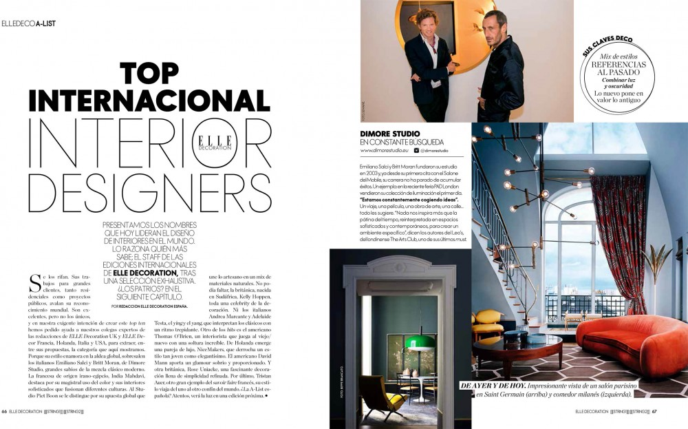 Among the top international interior designers on elle for Famous international interior designers