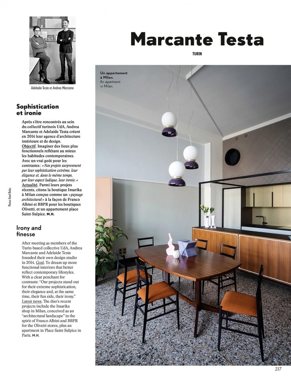 Marcante Testa Among The Top 100 Interior Designers On Ad Collector 2019 Marcante Testa Architetti